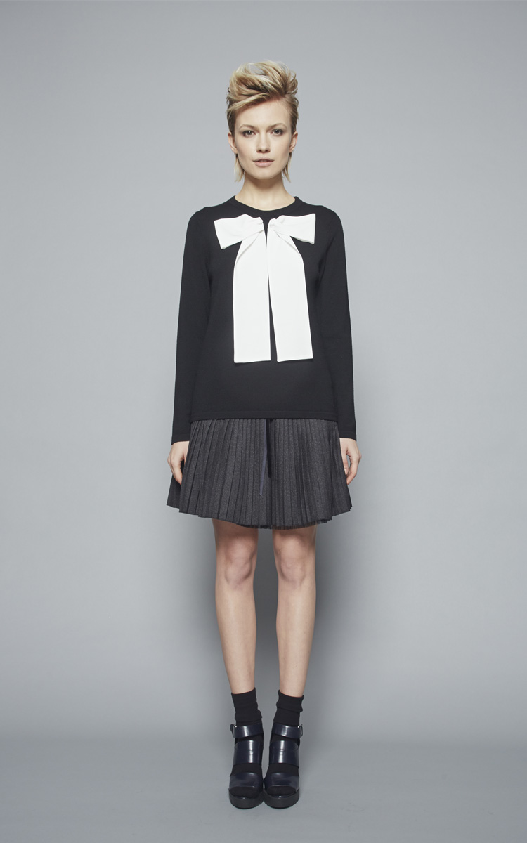 Autumn Winter 2015/16 Collection: Article Gastone skirt 1 - Article Senofonte round neck