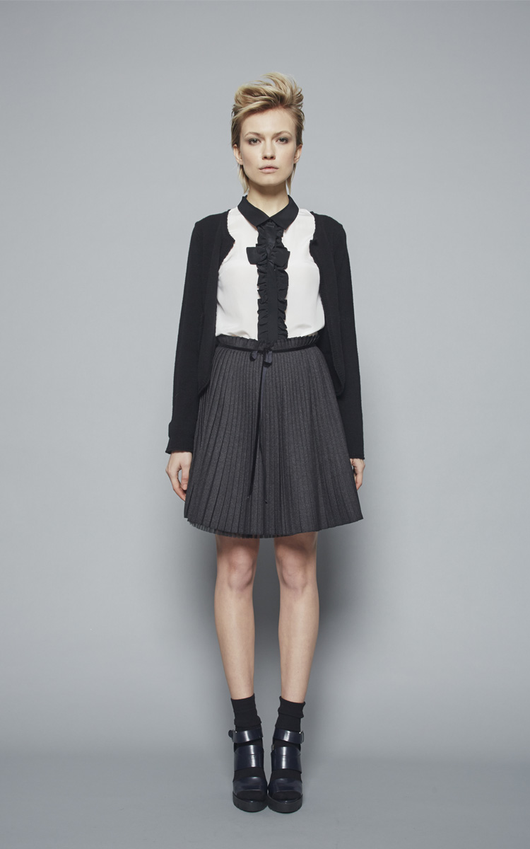Autumn Winter 2015/16 Collection: Article Gastone skirt 1 - Article Glauco shirt 3 - Article Settimo cardigan 1
